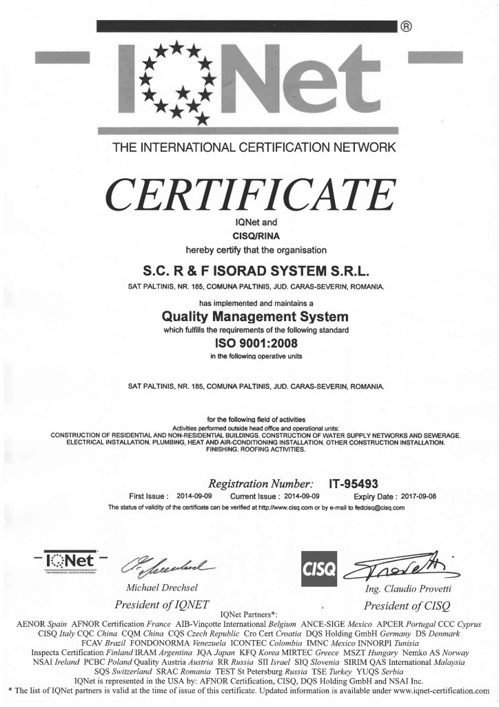 ISORAD Quality management